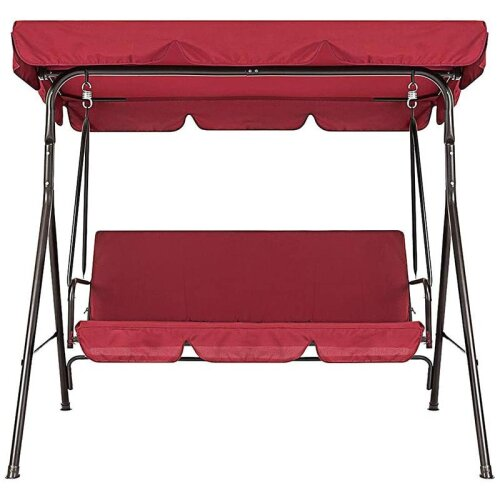 (As Seen on Image) 3-Seater Outdoor Cover Waterproof Swing Chair