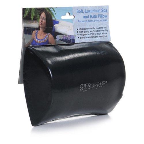 (Black) Super Soft Luxurious Bath, Hot Tub and Spa Pillow