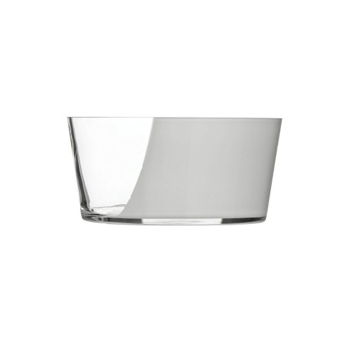 Glass Bowl, Clear & White