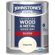 Johnstone's 423309 Quick Dry Gloss, Magnolia, 0.75 Litres