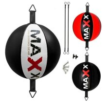 Maxx Leather double end bag Floor to Ceiling ball Punch bag speed ball+hooks Mma