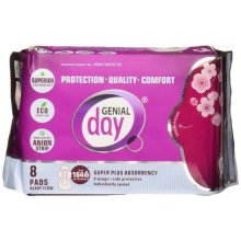 Genial Day 664707 Heavy Postpartum Flow Pads - 6 Count