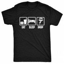 8TN Eat Sleep Drop in Mens T Shirt