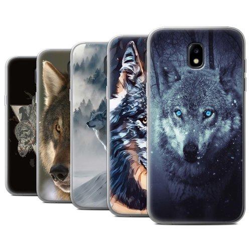 Wild Animal Predator Wolf Samsung Galaxy J5 2017/J530 Phone Case Transparent Clear Ultra Soft Flexi Silicone Gel/TPU Bumper Cover