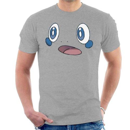 (XX-Large, Heather Grey) Pokemon Sword And Shield Sobble Face Men's T-Shirt