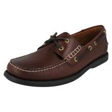Mens Barker Formal Boat Shoes Wallis - F Fit