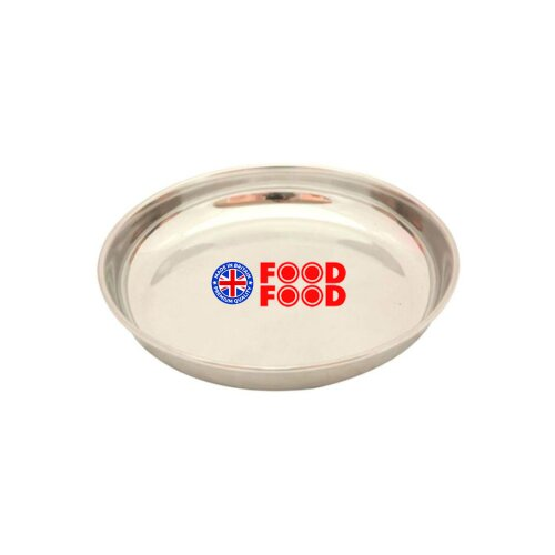 Food Food Kitchen Stainless Steel Dinner Plate Silver 23 cm