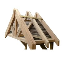Wooden Canopy - Oak Front Door Canopy Porch Hand Made Porch - Size 3 - UP TO 8 WEEK WAIT