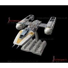 Star Wars 1/72 scale Rebel Y-Wing Starfighter model kit by Bandai