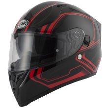Vcan V128 Tracer Red Full Face Dual Visor Helmet