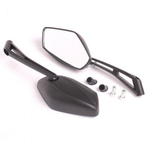 Motorcycle Motorbike Mirrors 8mm/M8 Thread Rear View Adjustable Pair