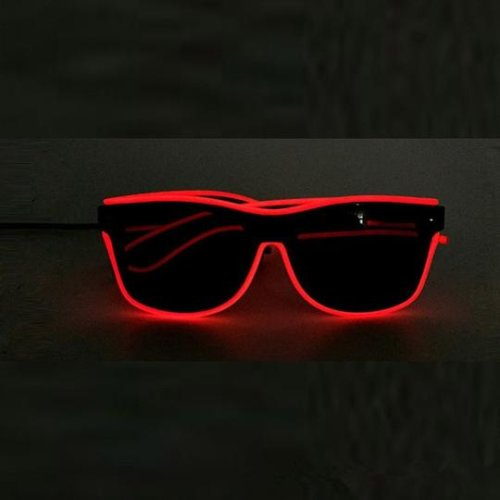 (RED) LED Glasses Light Up Glasses For Party