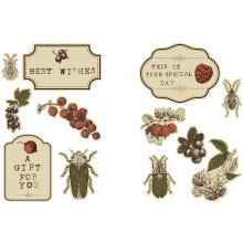 Vivi Gade Autumn Themed Stickers 2 design sets on 4 sheets 24 stickers CR27