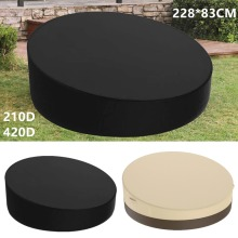 Waterproof Outdoor Garden Patio Rattan Day Bed Furniture Round Cover Protection