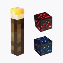LED Minecraft Torch & Ore Lights | Keyring, Handheld Or Wall-Mounted Lights