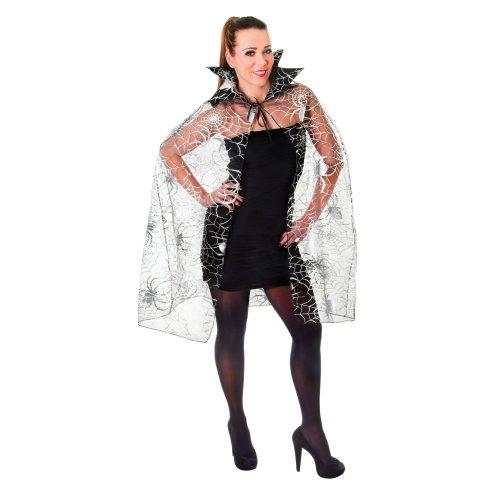 HALLOWEEN FANCY DRESS SPIDER WEB CAPE