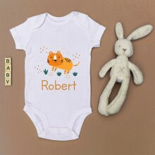 Personalised Tiger Baby Grow - Pregnancy Announcement