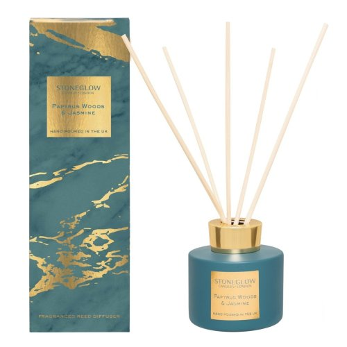 Stoneglow Candles Reed Diffuser Luna Range - Papyrus Woods & Jasmine