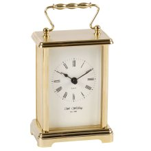 Wm.Widdop Carriage Clock - White dial