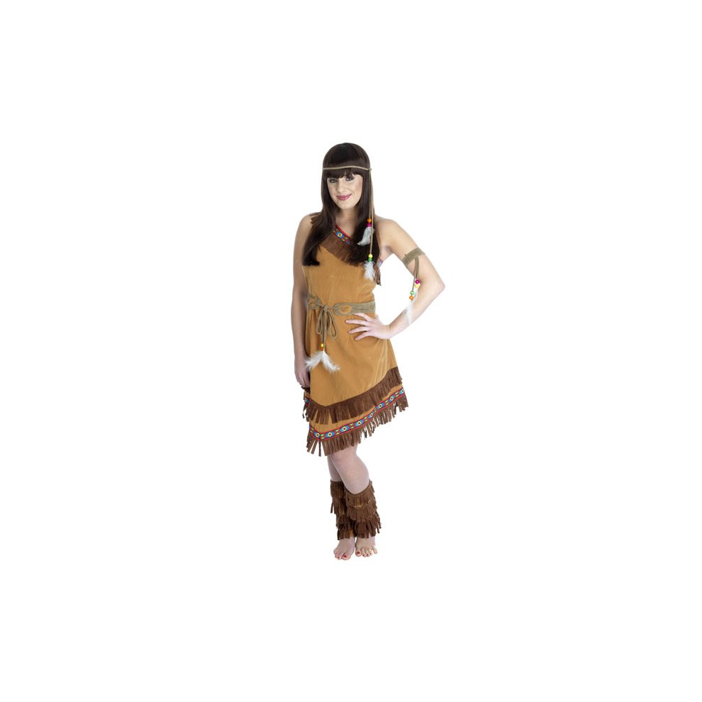 Womens Native Indian Squaw Fancy Dress Xmas Party Costume Pocahontas Outfit