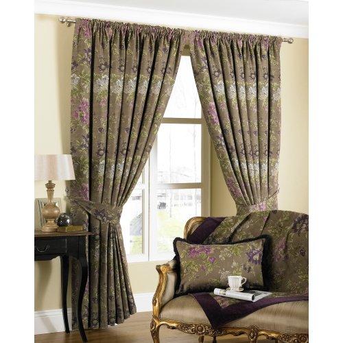 (66x90 (168x229cm), Hyacinth) Riva Home Berkshire Pencil Pleat Curtains
