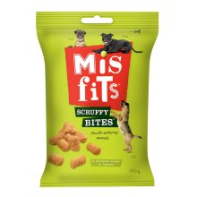 Misfits Scruffy Bites Dog Treats 9x180g