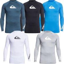 Quiksilver Mens All Time Long Sleeve UPF 50 Rash Vest Guard T-Shirt Top Tee