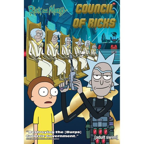 "Poster - Studio B - Rick & Morty - Council Of Ricks 36x24"" Wall Art P4324"