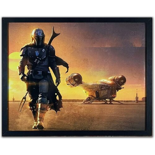 Reproduction Vintage Retro Star Wars Poster - The Mandalorian - Satin - A2 (420mm x 594mm)