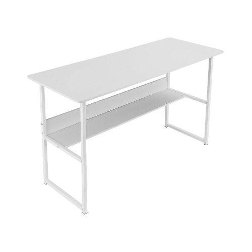 White Wooden Office Desk | Minimalist Computer Desk