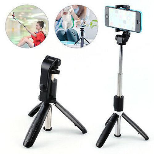 Selfie Tripod Phone Holder Stick Monopod Long Arm&Easy Control Foldable Gifts UK