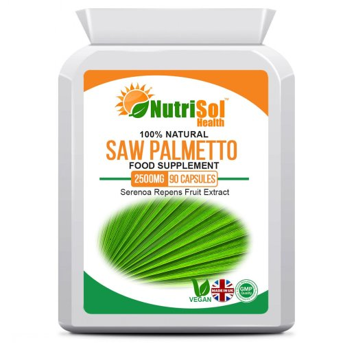 NutriSol Health Saw Palmetto Extract 2500mg 90 Capsules