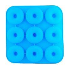 Blue Silicone 9 Cavity Doughnut Mould Tray, Donut Mold Bread Cake