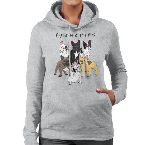 Friends French Bulldog Mashup Women's Hooded Sweatshirt