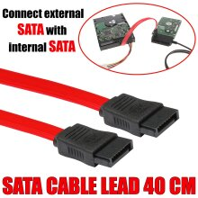 40cm SATA 2 High Quality Locking Red Serial ATA HDD SSD Data Cable