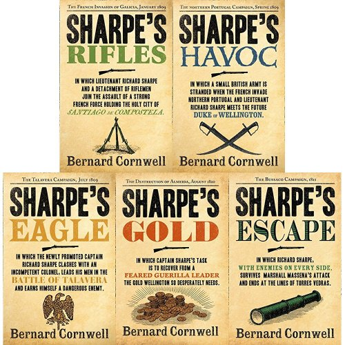Bernard Cornwell The Sharpe Series (6 to 10) 5 Books Collection Set