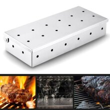 Kitchen Barbecue BBQ Stainless Steel Smoking Wood Chip Smoke Smoker Box
