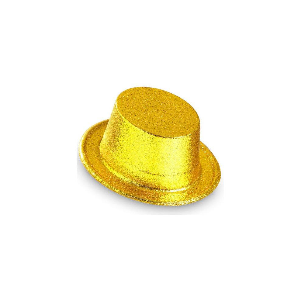 HAT GLITTER BOWLER GOLD//SILVER PVC