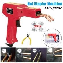 Hot Stapler Plastic Repair Car Bumper Fender Fairing Welder Gun Kit