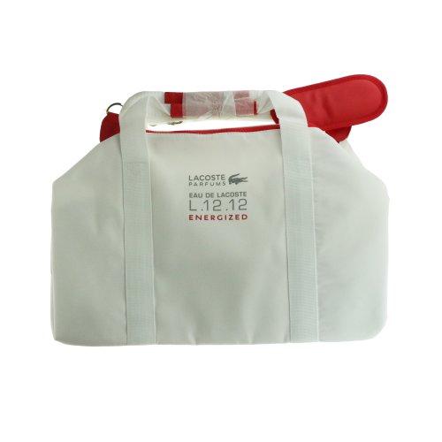 Lacoste 'Eau De Lacoste L.12.12 Energized' White And Red Sport Bag New