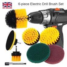 Electric Attachment Set Drill Brush Carpet Cleaner Power Scrubber 6pcs
