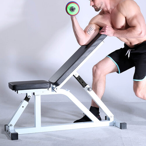 Positions Adjustable Flat Incline Gym Utility Dumbell Weight Bench