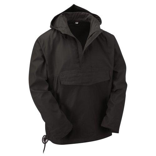 (Black, M) New Latest Style Hooded Anorak Smock Jacket