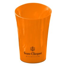 Veuve Clicquot Orange Acrylic Plastic Champagne Cooler Bucket