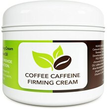 Coconut Cellulite Cream with Caffeine - Natural Stretch Mark Treatment - Best Body Firming and Tightening Cream - Anti Aging Moisturizer for Men and W
