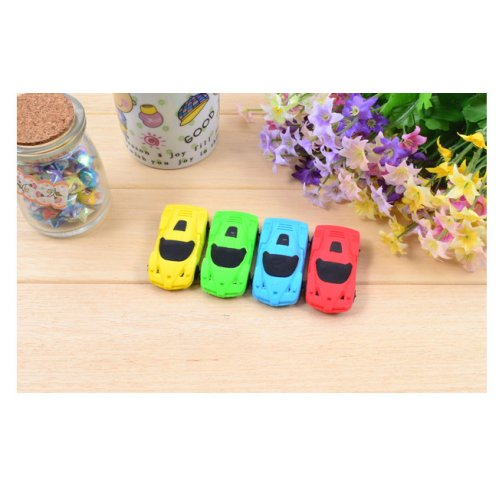Sports Racing Car Rubber Erasers Party Gift Bag Fillers Christmas Stockings Toys A Set Of 4