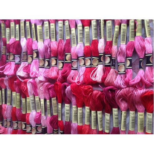 Mixed Shades of Pink Skeins of Embroidery Thread 50 off