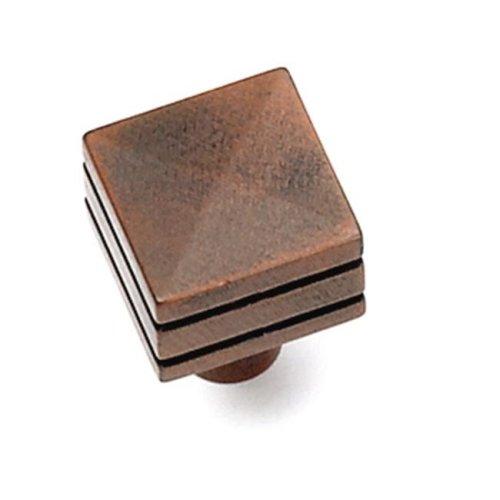 Laurey 23219 0.88 in. Square Knob - Rust