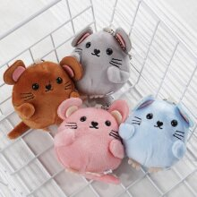 Baby Hand Bell Bag Charm Cute Stuffed Fluffy Mouse Stroller Toy For Newborn Child Room Decoration