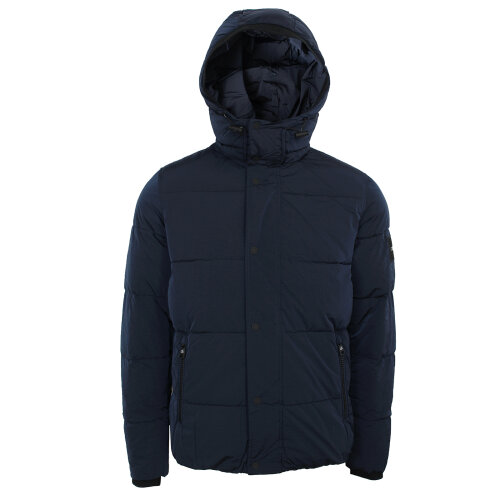 (XL) Calvin Klein Men's Crinkle Nylon Navy Jacket